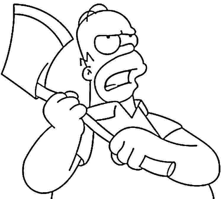 756x672 Bart, Homer, Lisa And Marge Simpsons Coloring Pages