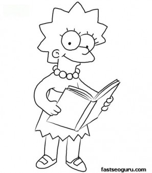297x338 Print Out Lisa Simpson Coloring Page