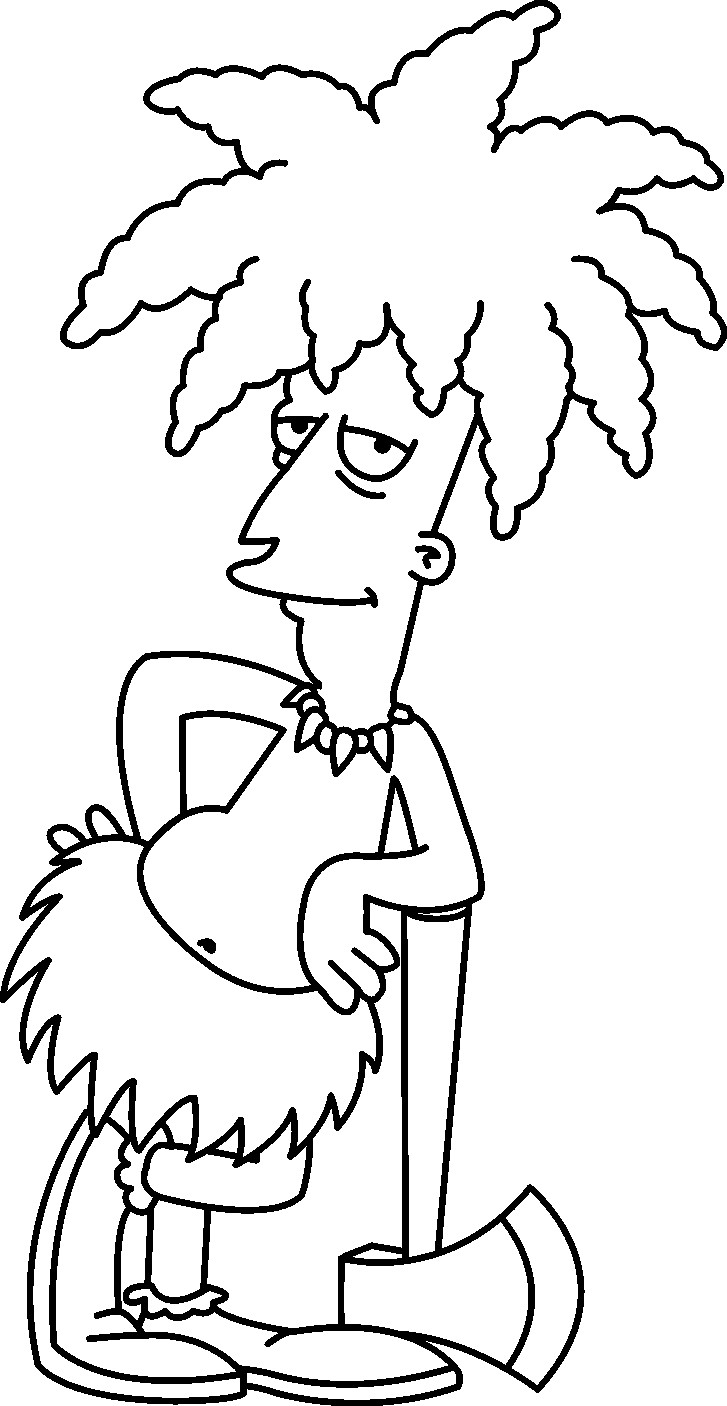 727x1406 Suddenly Bart Simpson Coloring Pages Simpsons Page Free Printable