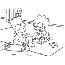 230x230 Top Free Printable Simpsons Coloring Pages Online