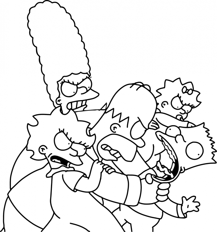 728x775 Coloring Book The Simpsons Coloring Book Characters Pages