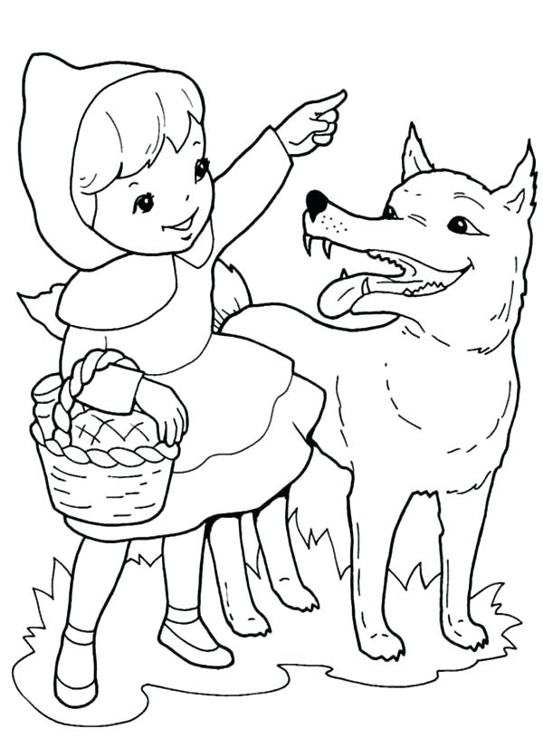 600x815 Red Riding Hood Coloring Pages Little Red Riding Hood Coloring