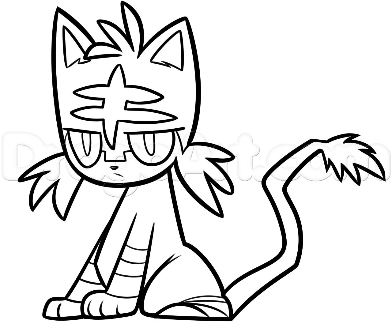 1280x1071 Now Litten Coloring Pages Pokemon Drawing Clipartxtras