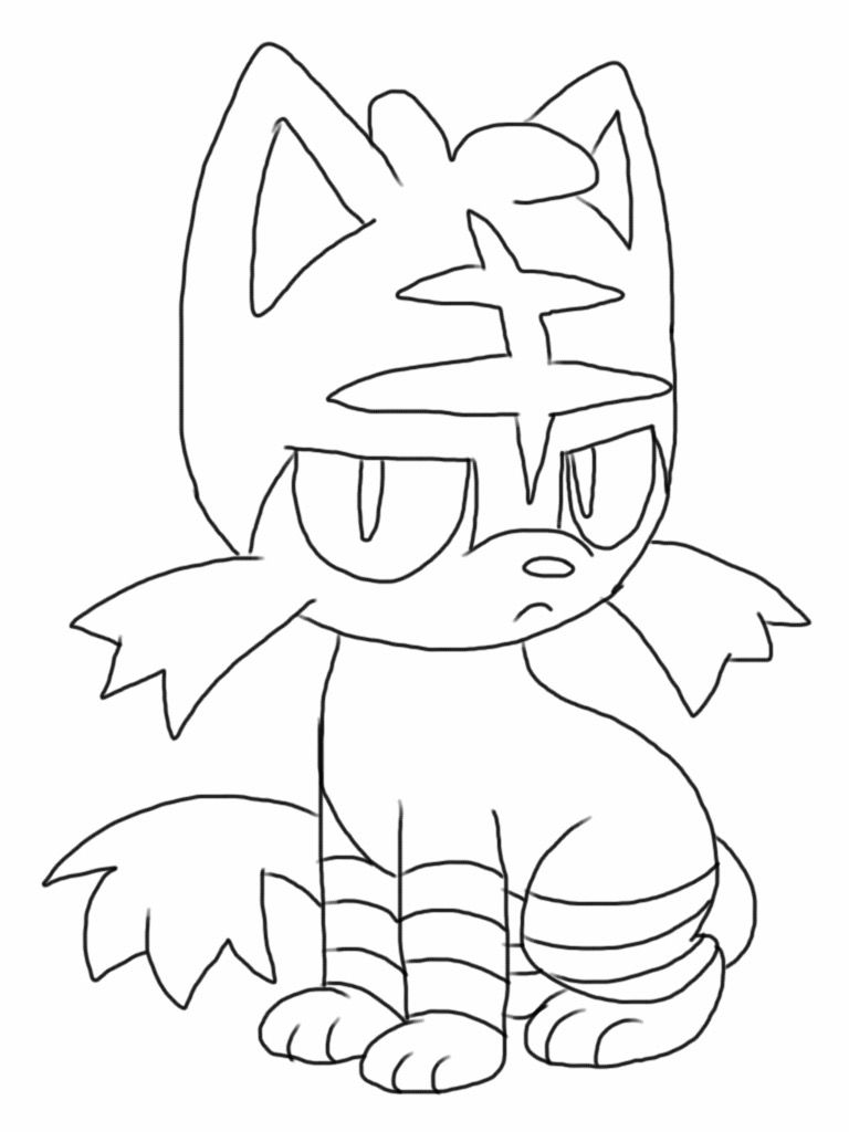 768x1024 Profitable Litten Coloring Pages Pokemon Pdf Bgcentrum