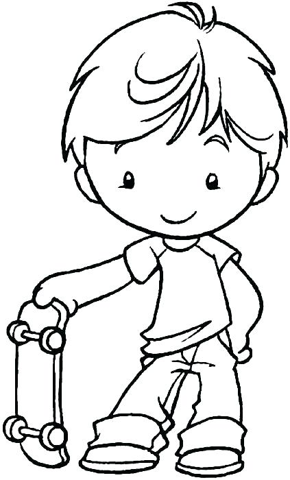 423x700 Boy And Girl Coloring Pages Little Boy Coloring Pages Boy Coloring