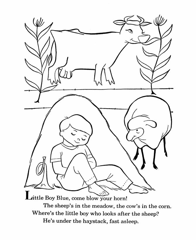 Little Boy Blue Coloring Pages