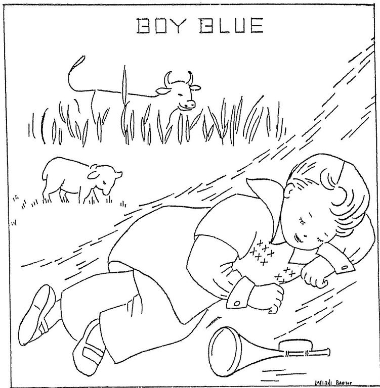 751x768 Little Boy Blue Embroidery Embroidery And Pre School