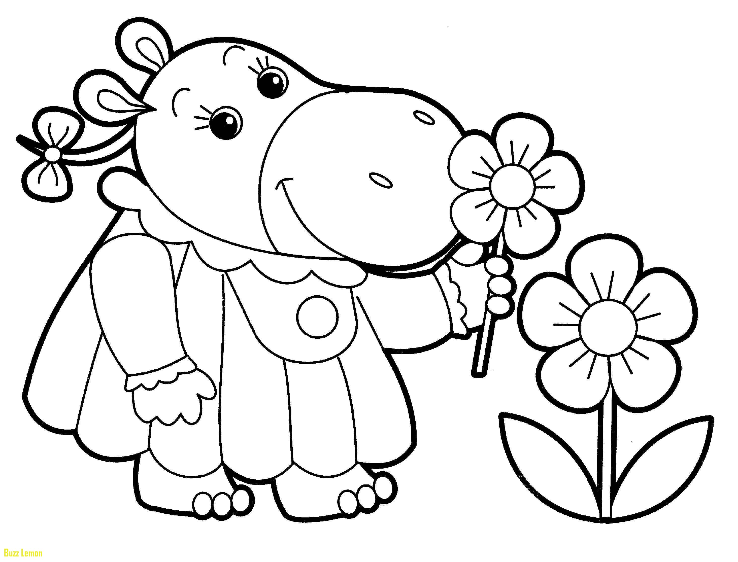 2930x2232 Little Kid Coloring Pages New Rhino Kid Smelling Flowers Free