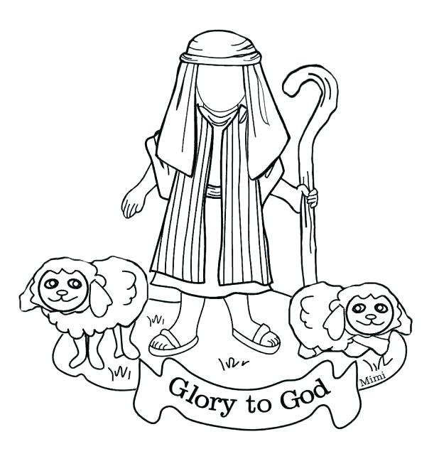 618x656 Boy Coloring Page The Shepherd Boy Coloring Pages Bible Kids