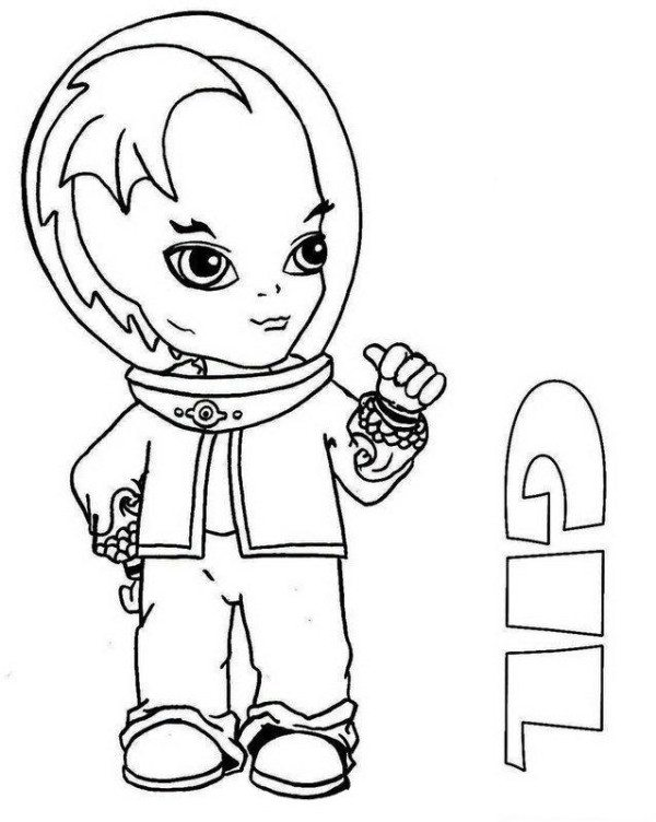 600x752 Gil Webber Little Boy Monster High Coloring Page