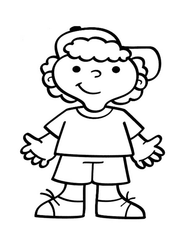 600x796 Little Boy Coloring Page Little Boy Coloring Page Printable Boy
