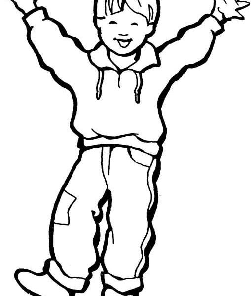 509x600 Little Boy Coloring Page Happy Little Boy Coloring Page Free