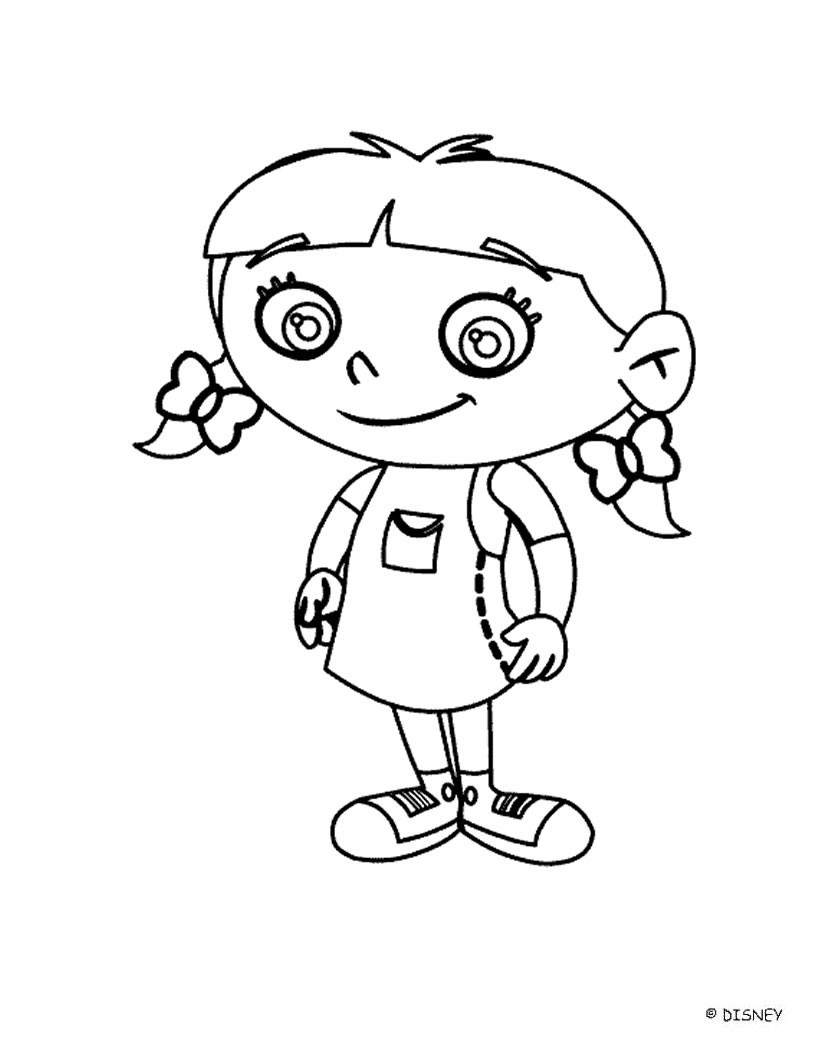 820x1060 Little Kid Coloring Pages Little Einsteins Free Disney
