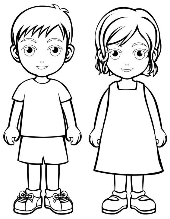 564x729 Picture Of A Boy To Color Little Boy Clipart Coloring