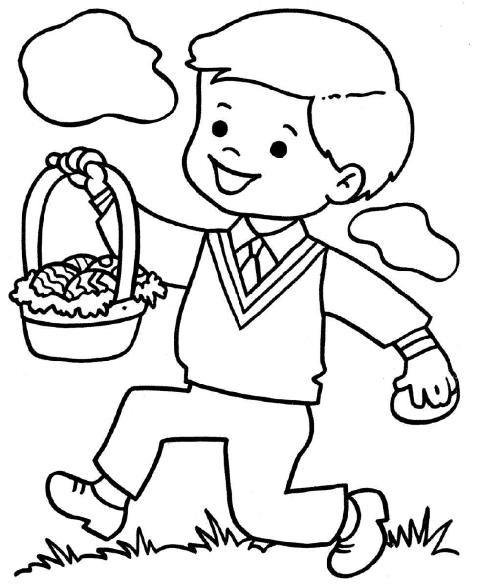 980x1200 Little Boy Coloring Pages Printable Download