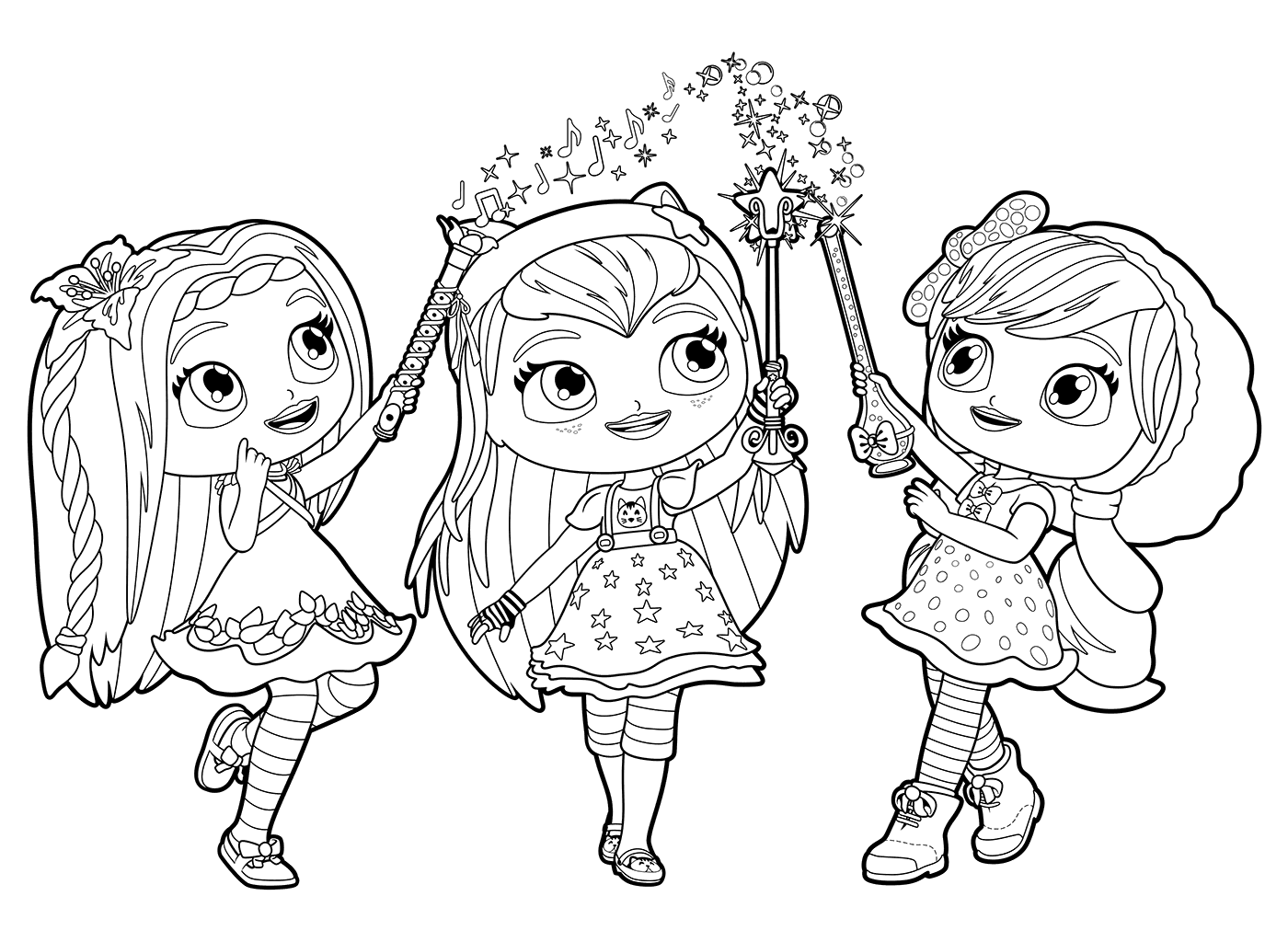 1400x1024 Little Charmers Coloring Page