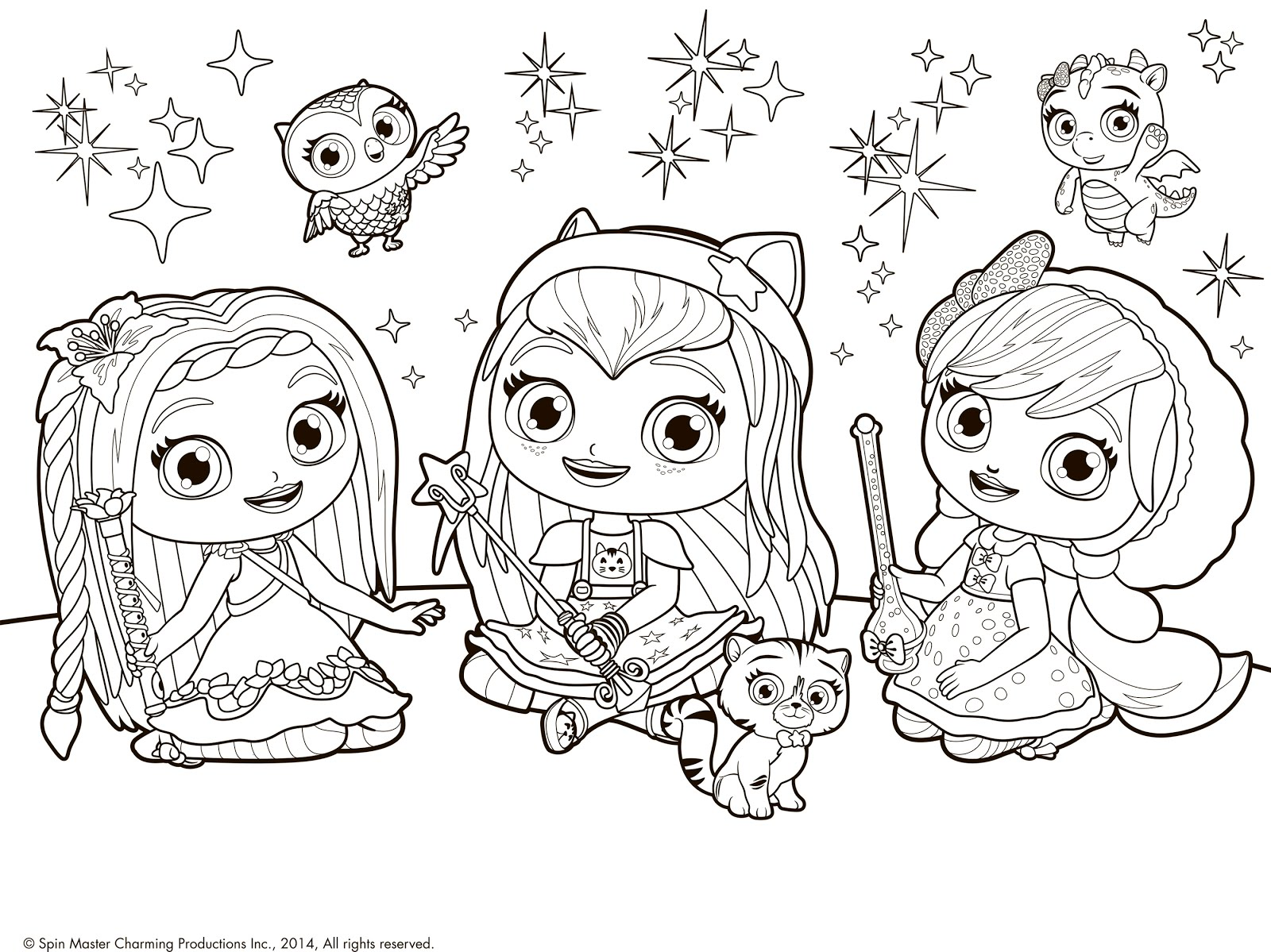 1600x1199 Little Charmers Coloring Page Posie And Hazel And Lavender
