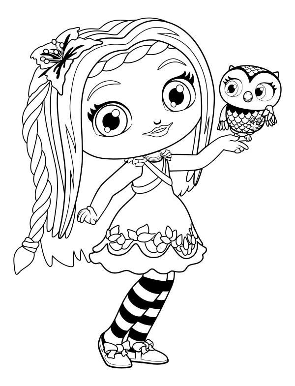 600x785 Little Charmers Coloring Pages