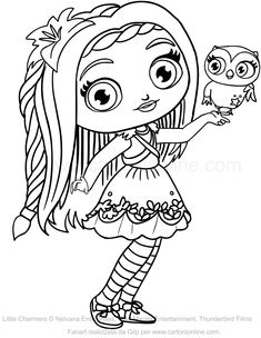 235x304 Little Charmers Coloring Pages Kids