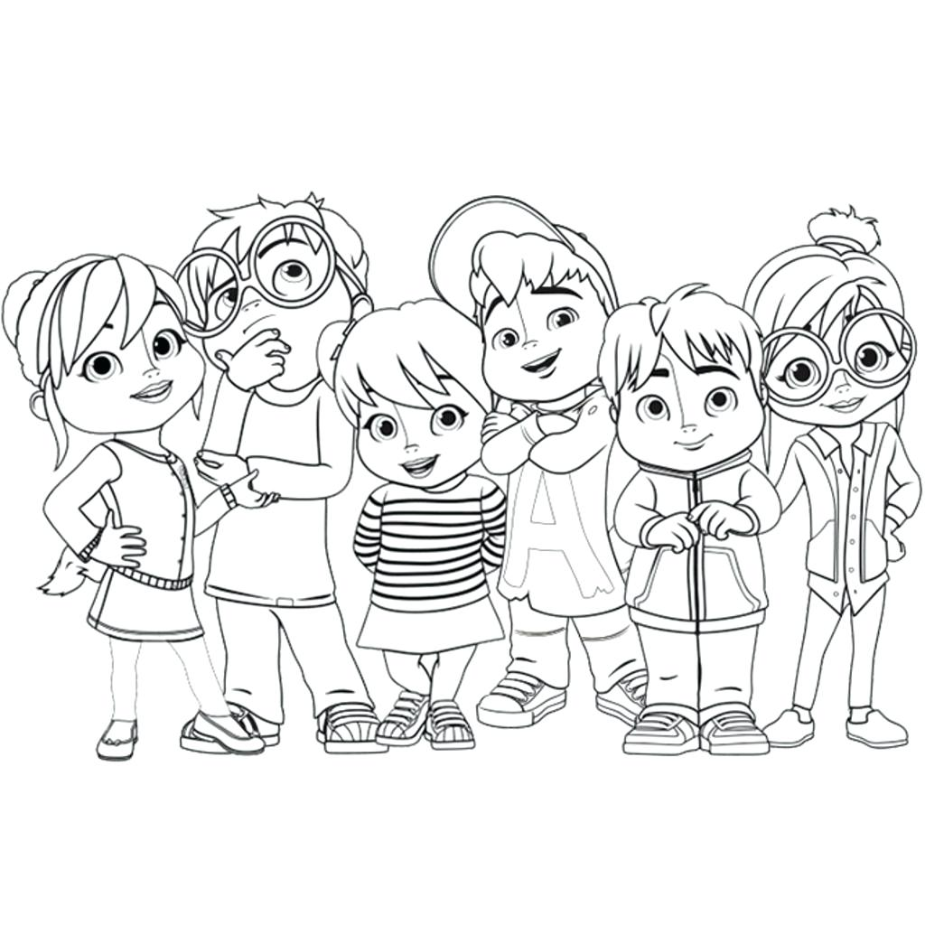 1024x1024 Little Charmers Coloring Pages And The Chipmunks And The Chipmunks