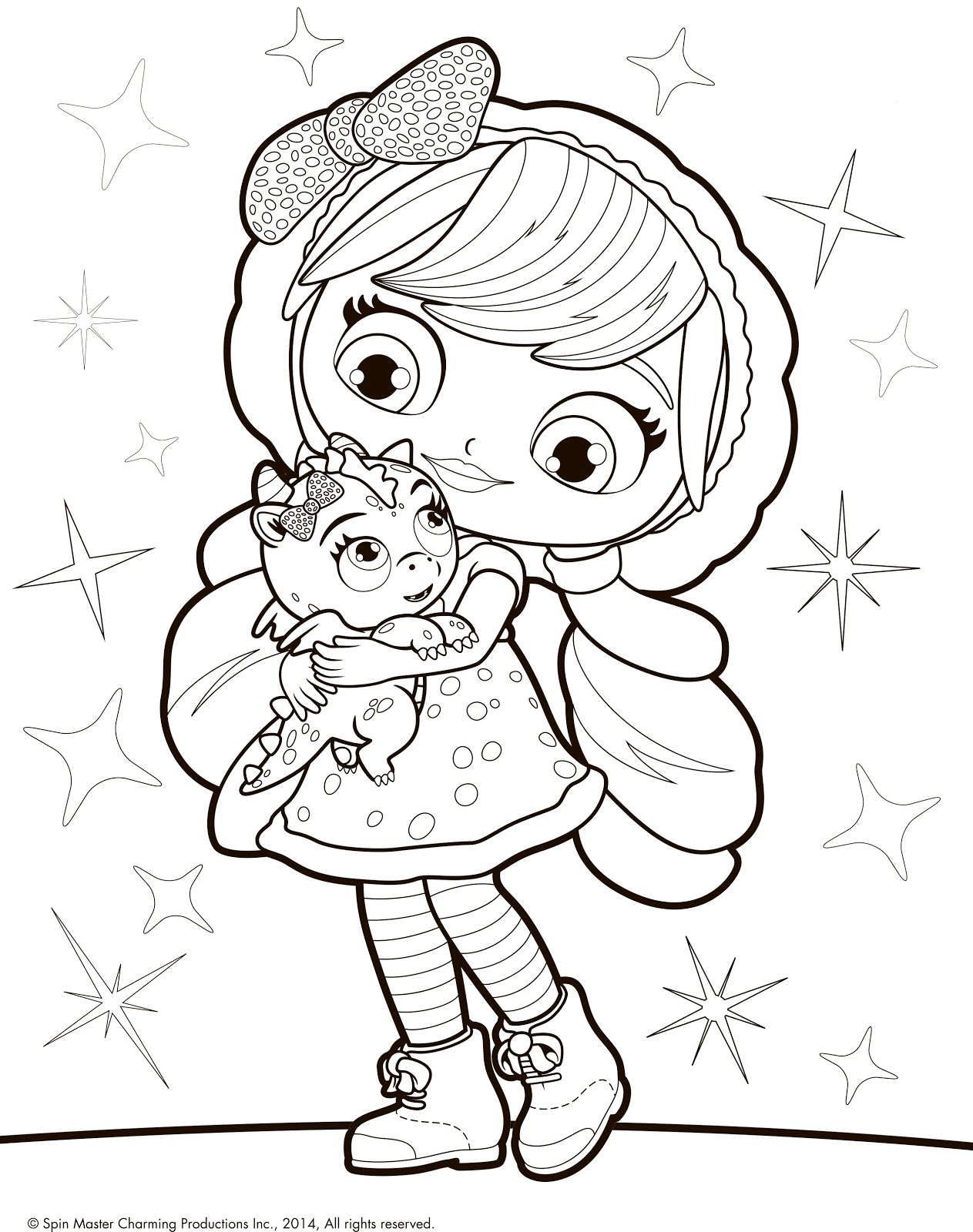 1263x1600 Little Charmers Coloring Pages Lavender And Dragon Flare