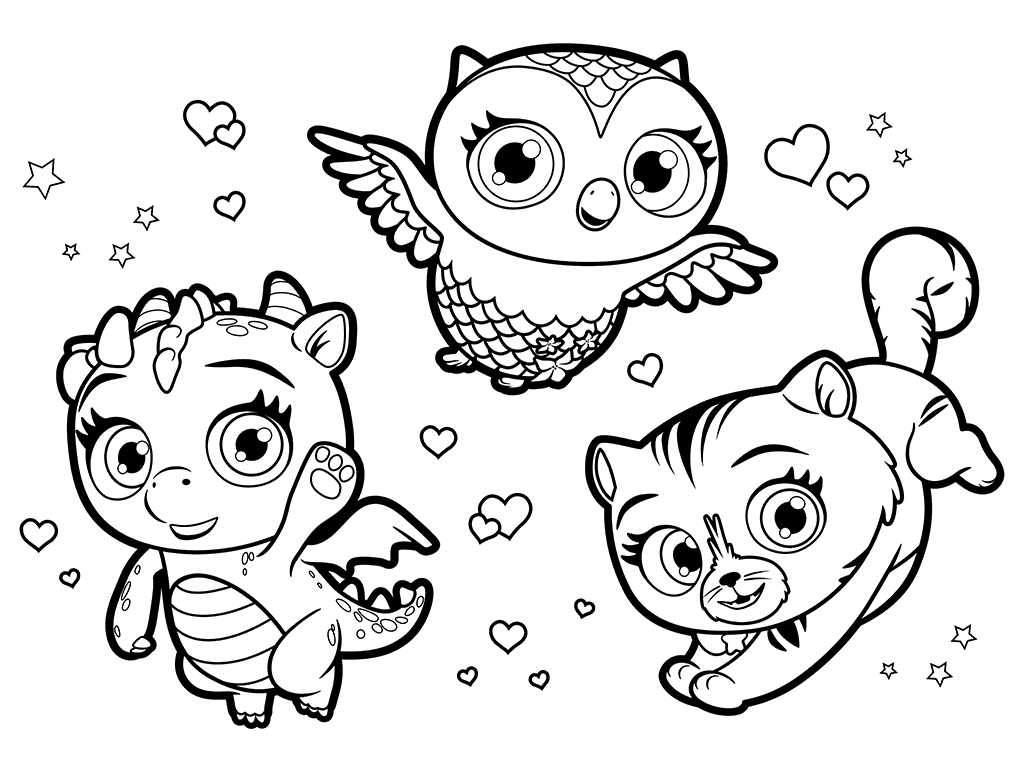 1024x768 Little Charmers Pets Coloring Pages