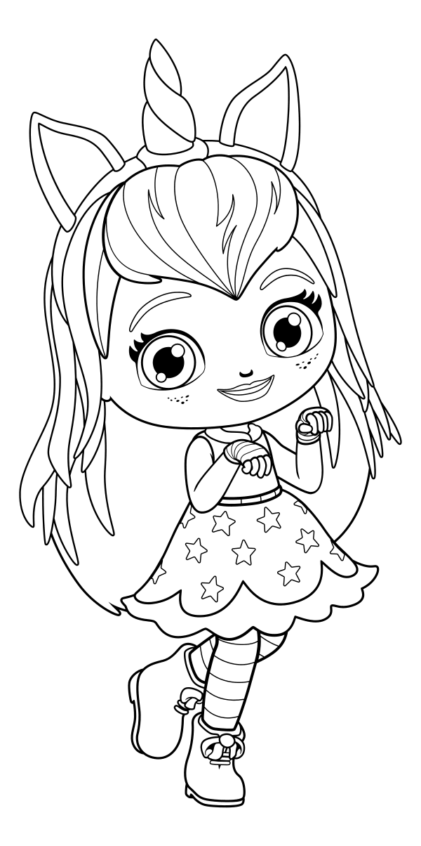 600x1204 Hazel Little Charmers Coloring Page