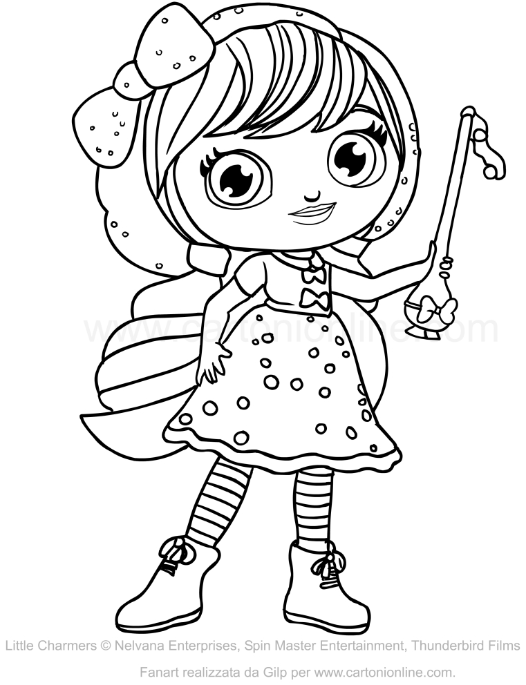 761x992 Lavender Of Little Charmers Coloring Pages
