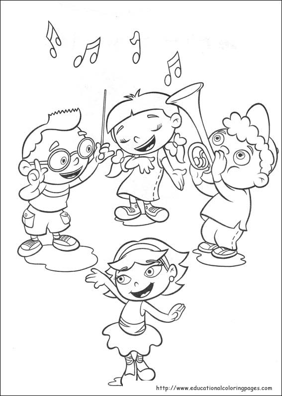567x794 Little Einsteins Coloring Pages