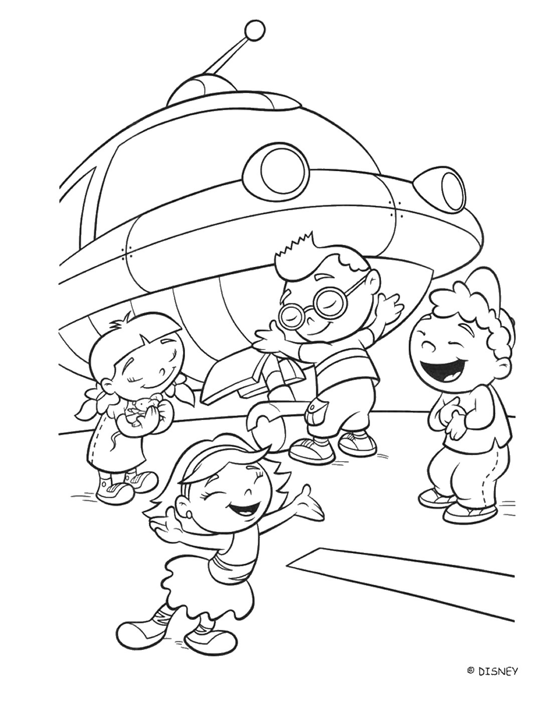 1083x1400 Little Einsteins Coloring Pages