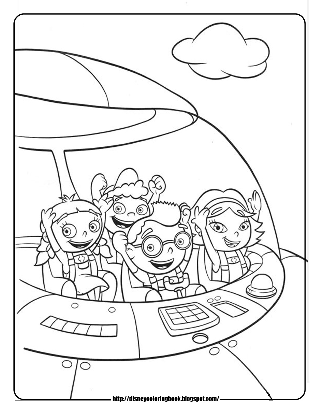 1020x1320 Little Einsteins Free Disney Coloring Sheets Learn To Coloring
