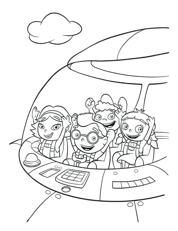 600x776 Little Einsteins Coloring Pages And In Little Rocket Coloring Page