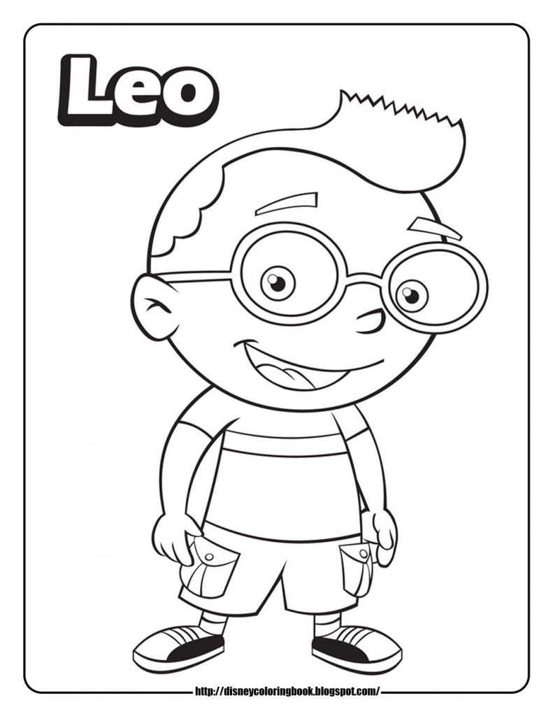 791x1024 Little Einsteins Coloring Pages Free
