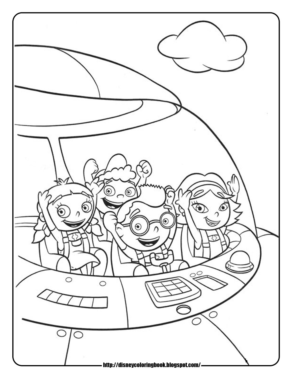 1020x1320 Free Printable Little Einsteins Coloring Pages Get Ready To Learn