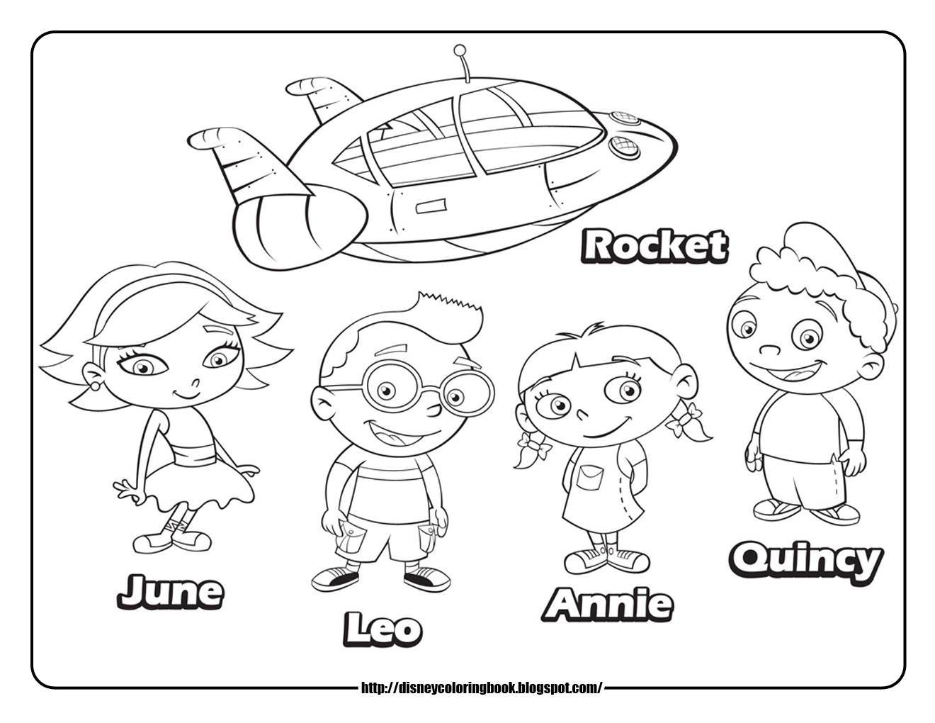 1320x1020 Little Einsteins Coloring Pages