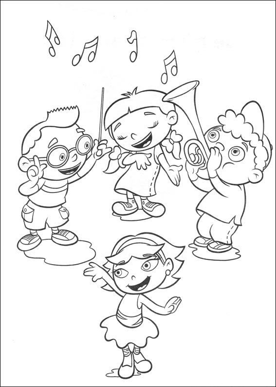 567x794 Little Einsteins Coloring Pages Free