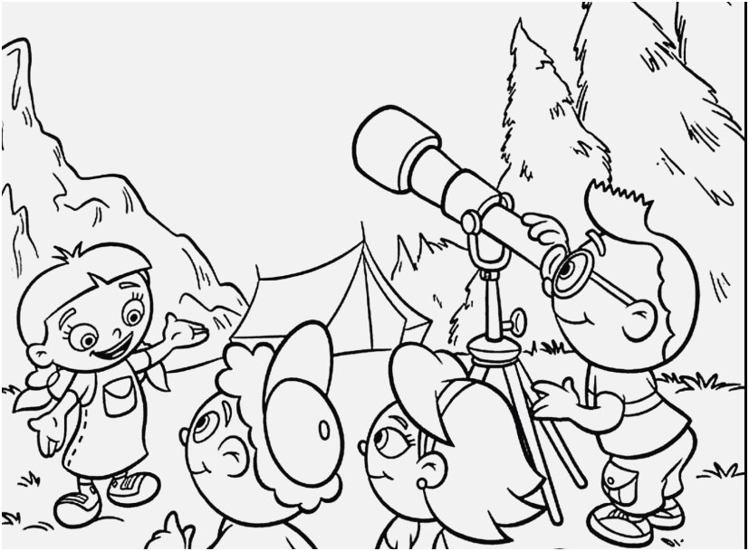 827x609 Cartoon Coloring Pages Printable Photo Little Einsteins Cartoon