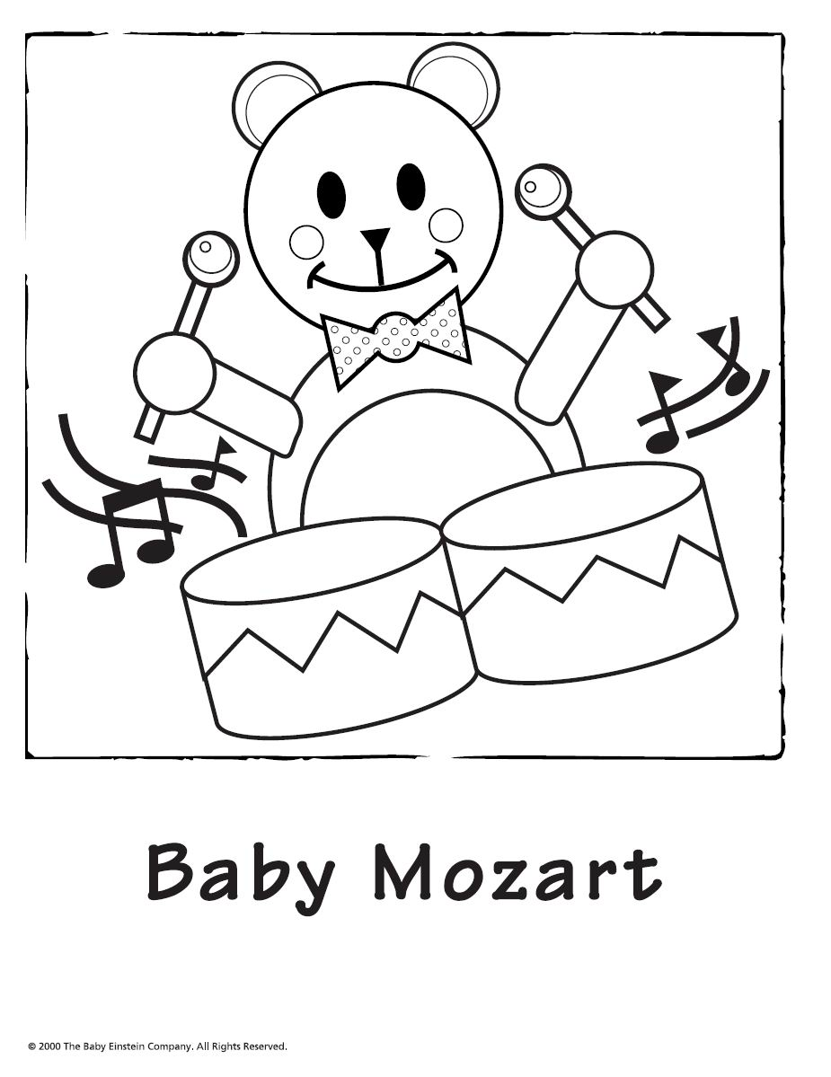 925x1199 Baby Einstein Coloring Pages