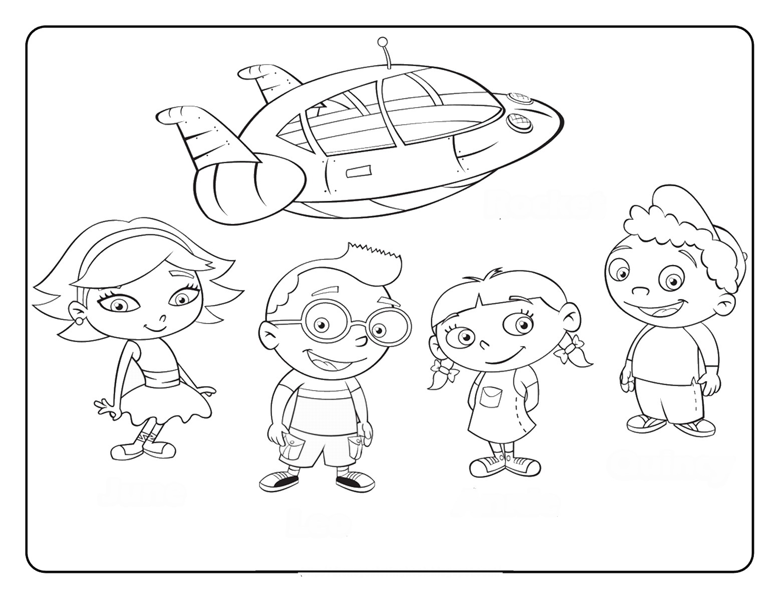 1553x1200 Little Einsteins Coloring Pages
