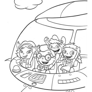 300x300 Quincy Leo Annie And June In Little Einsteins Rocket Coloring Page