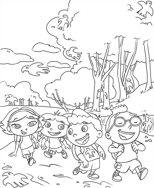 500x613 Free Printable Little Einsteins Coloring Pages Get Ready To Learn!