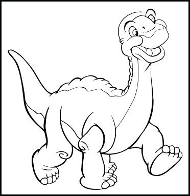 372x382 Little Foot Coloring Pages Land Before Time Coloring Pages Land