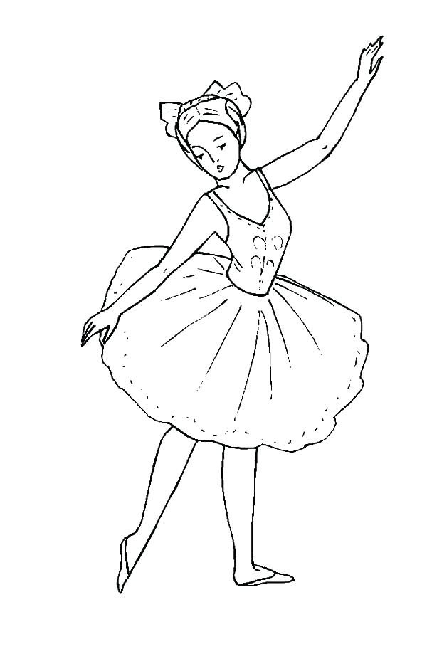 600x912 Coloring Pages Girls Little Ballerina Girl Coloring Pages Free