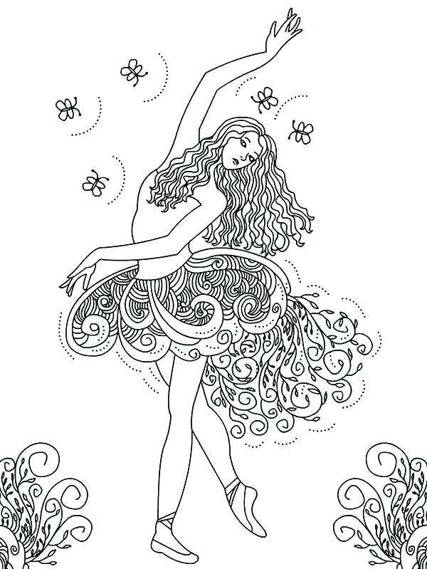 Little Girl Ballerina Coloring Pages At Getdrawings Com Free For