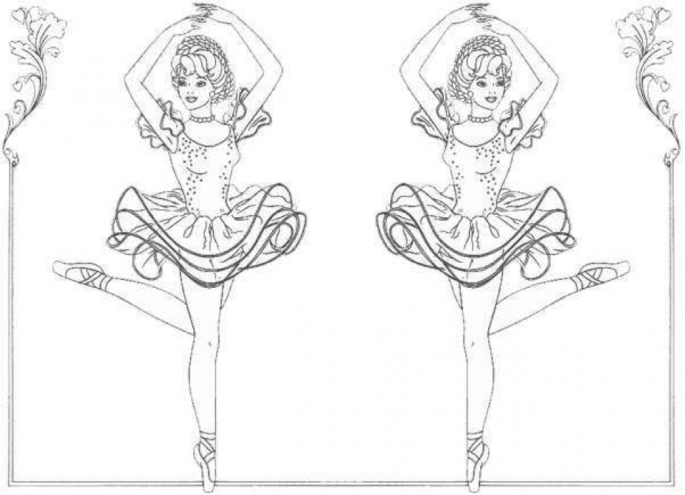 960x693 Free Printable Ballerina Coloring Pages