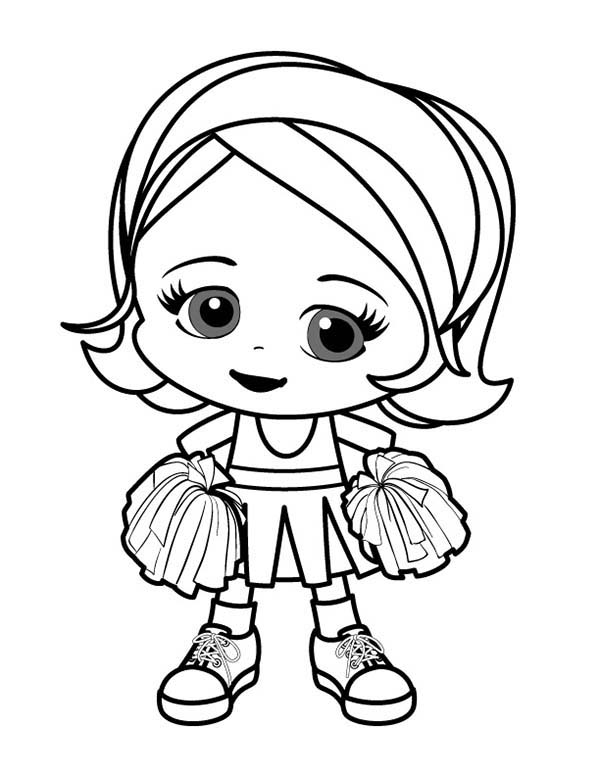 600x776 Little Girl Coloring Pages