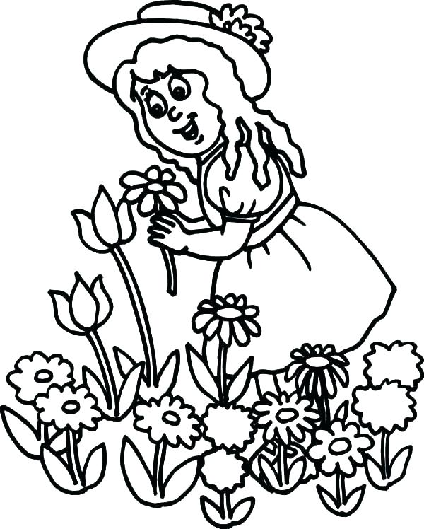600x748 Little Girl Coloring Pages Plus Little Girl Ballerina Shoes Little