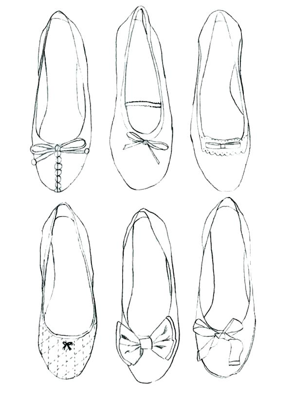 600x824 Ballerina Shoes Coloring Pages
