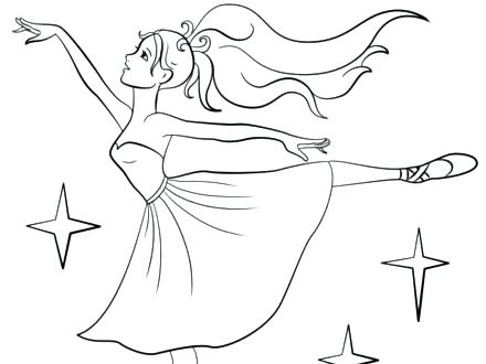 440x330 Ballerina Coloring Pages Little Girl Ballerina Coloring Pages