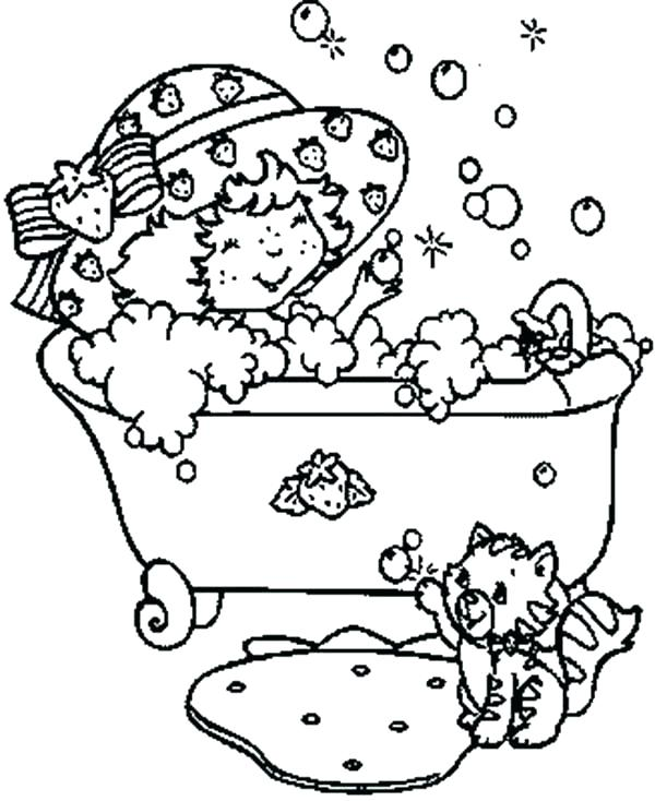 600x734 Little Girl Coloring Pages First Day Of School This Little Girl Is